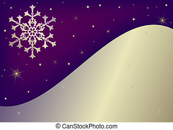 Abstract  lilas background with snowflake