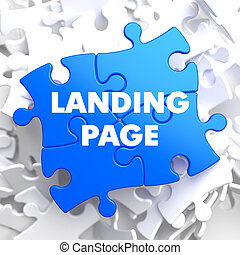 Landing Page on Blue Puzzle. - Landing Page on Blue Puzzle...