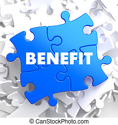 Benefit on Blue Puzzle - Benefit on Blue Puzzle on White...