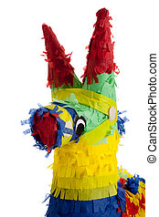 A traditional Mexican Pinata on White - A traditional,...