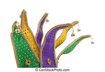 Mardi Gras Jester Mask Crown