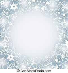 Winter luxury festive frame with snowflakes - Beautiful...