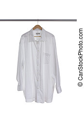 White shirt on hanger