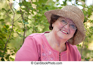 Happy Senior Woman Portrait - An Atractive Happy Senior...