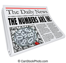 Numbers are In Newspaper Headline Quarterly Monthly Annual...