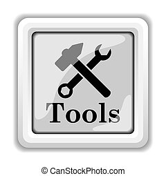 Tools icon Internet button on white background