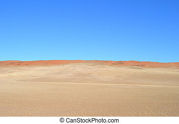 Sand dunes in the Kalahari desert - Sand dunes in the...