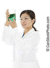 Japanese Woman - Beautiful Asian laboratory technician...