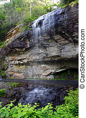 Bridal Veil Falls in the Nantahala National Forest