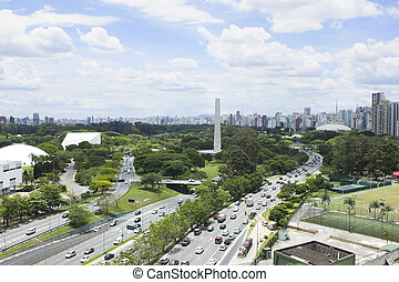 Ibirapuera Park and Obelisk - Sao Paulo Ibirapuera Park and...