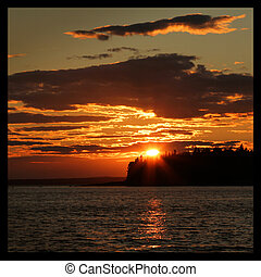 Seal cove - Sunset at seal cove in Acadia national park on...