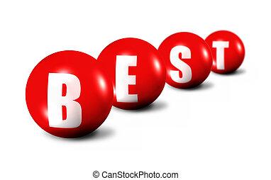 Best word made of 3D spheres