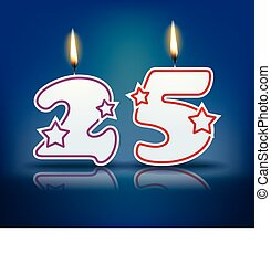 Birthday candle number 25 - Birthday candle number with...