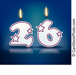 Birthday candle number 26 - Birthday candle number with...