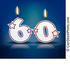 Birthday candle number 60 - Birthday candle number with...