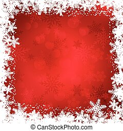 Christmas snowflake border - Decorative Christmas background...