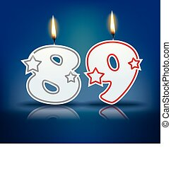 Birthday candle number 89 - Birthday candle number with...