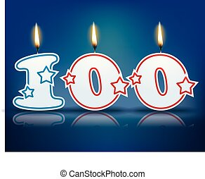 Birthday candle number 100 - Birthday candle number with...