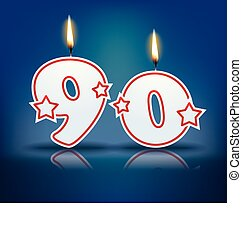 Birthday candle number 90 - Birthday candle number with...