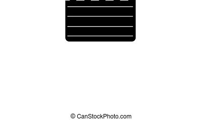 Movie clapper board Illustration White screen background 4k...