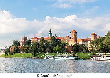 Wawel castle in Kracow - The Wawel castle in Kracow in...