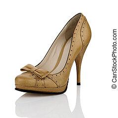 mode, Femmes, chaussure,