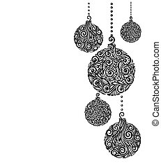 beautiful monochrome Black and White Christmas background...