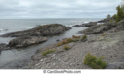 Lake Superior shoreline. - North shore of Lake Superior....
