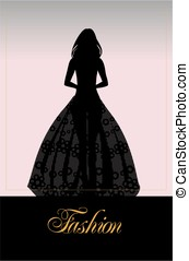 fashion - silhouette of the bride