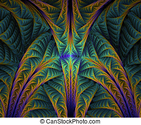 Computer generated fractal artwork for creative design, art...