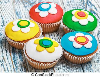 cubierto,  Cupcakes,  mastic