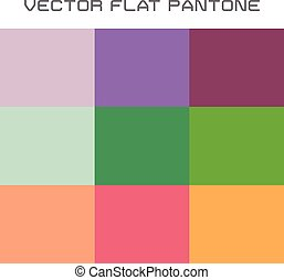 flat pantone color swatch - vector set of popular flat...