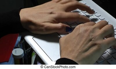 Woman Hand is Writing on Notebook C
