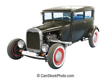 Black classical vintage  automobile