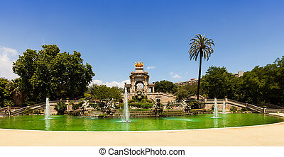 Cascada fountain at Parc de la Ciutadella in Barcelona -...