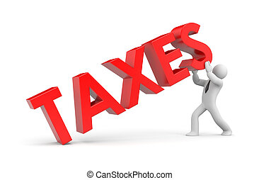 Tax - Business concept. Isolated on white
