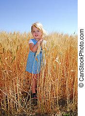 Little Girl in Durum Wheat Field