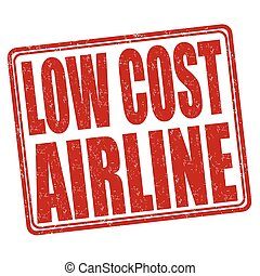 Low cost airline stamp - Low cost airline grunge rubber...
