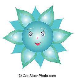 Flower cornflower smiley,