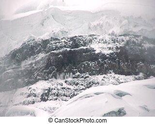 Glacier on Cotopaxi Volcano