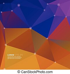 Abstract background with colored triangles and dots in the...