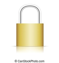 Padlock isolated on white background.
