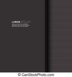 Vector blank with dark background and uniform texture for...