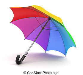 Rainbow umbrella - Creative abstract concept: color rainbow...