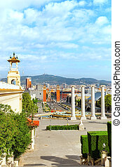 View in Barcelona on Placa De Espanya Square of Spain - View...