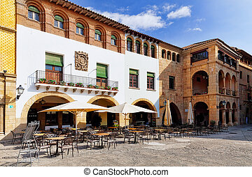 Typical landscapes and authentic Catalan cozy streets in...