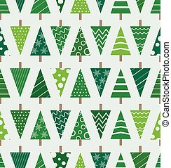 Abstract christmas trees seamless background. Design...