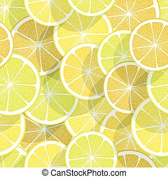 Citrus seamless background. Lemon