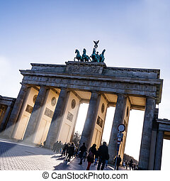 brandenburger tor - sunlight at brandenburger tor in spring...
