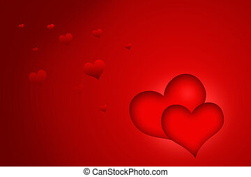 valentine hearts - a valentine background with red flying...